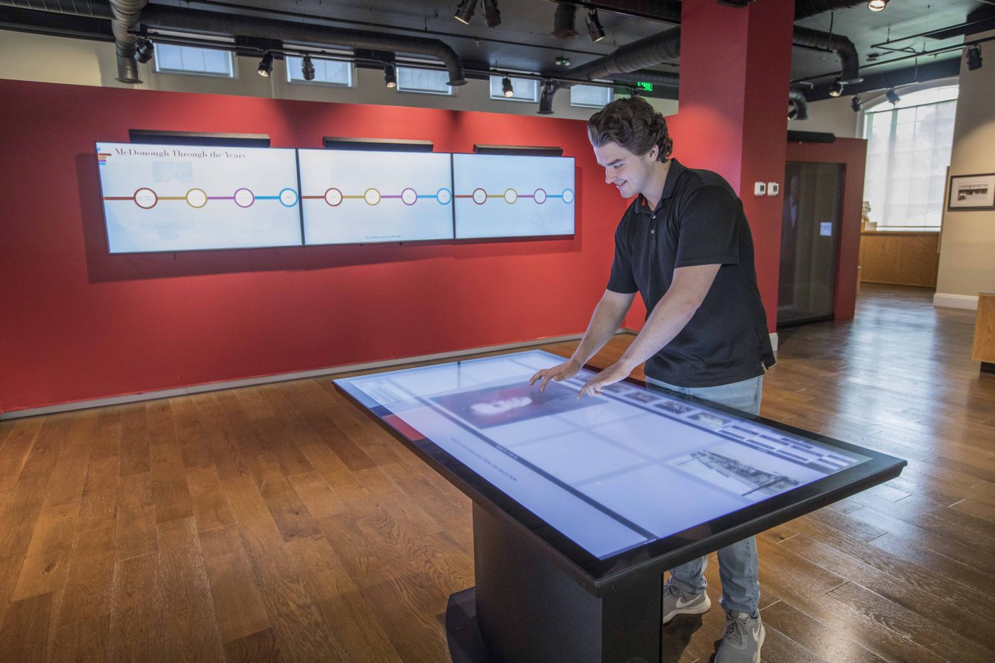 Museum Collection Database Interactive Touch Table