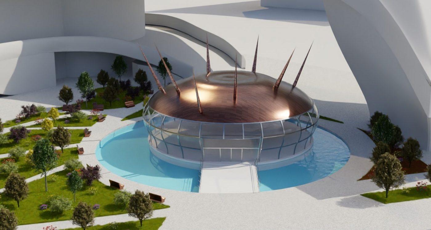 Exterior View Spark Dome